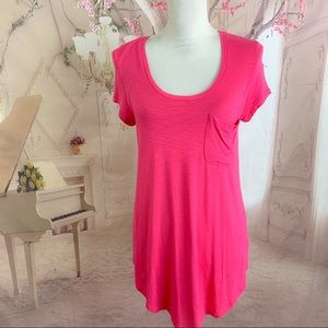NEW Anthropologie Pure Good Pink Tunic T Shirt